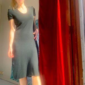 GIORGIO ARMANI virgin wool cashmere midi dress